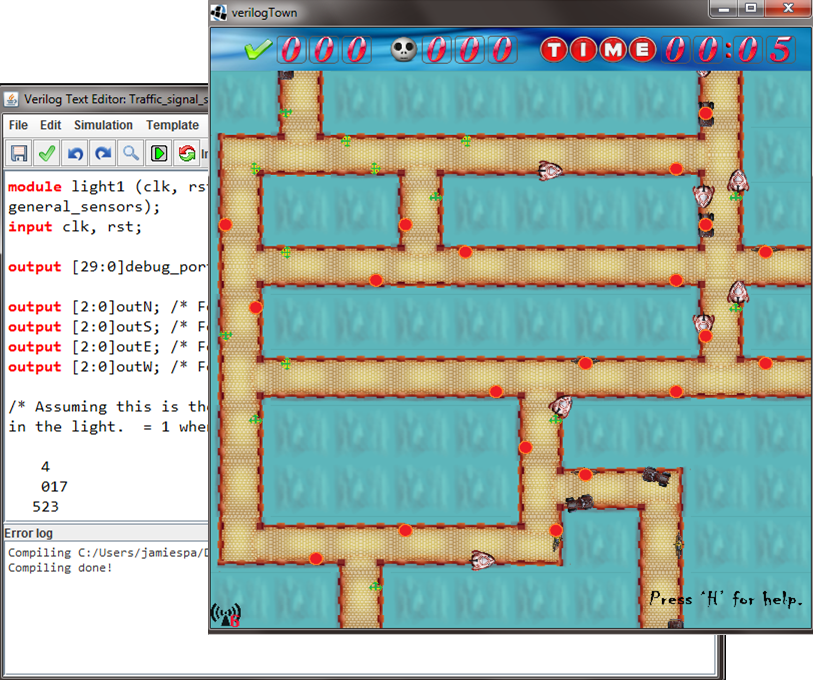 verilogTown Screen Shot